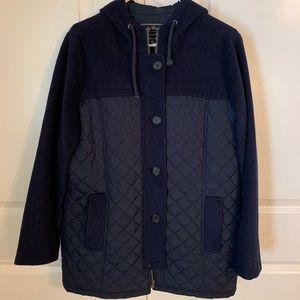Lucky Brand Navy Hooded Coat
